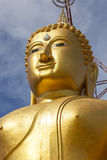 The face of Buddha. In a temple in Thailand Stock Photos