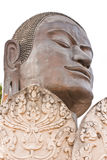 Face of Buddha from the temple of Wat Tummickarat in Ayutthaya Stock Photos