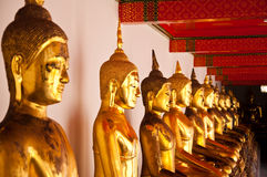 Face of Buddha in Wat Pho Stock Image