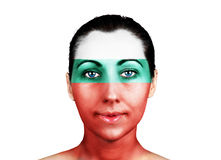 Face  with the Bulgaria flag Stock Photography
