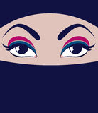 Face in burqa Stock Images
