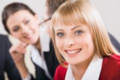 Face of business woman Stock Image