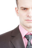 The face of businessman stock photography