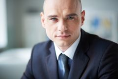 Face of businessman royalty free stock photos