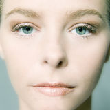 Face Care. Close up of beautifull models face royalty free stock photography
