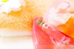 Face care and body care items royalty free stock images