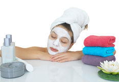 Face care massage Royalty Free Stock Image