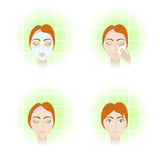Face care stages Royalty Free Stock Image