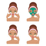 Face Care. Vector Illustration Stock Photography
