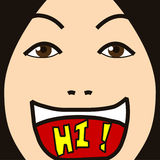 Face cartoon expression greeting Stock Photo