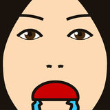 Face cartoon expression hungry Stock Image