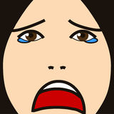 Face cartoon expression hurt Royalty Free Stock Photography