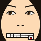 Face cartoon expression silence Stock Photography