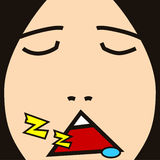 Face cartoon expression sleep Royalty Free Stock Photo