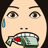 Face cartoon expression speak Royalty Free Stock Images