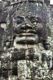 Stone face in Cambodia stock photos
