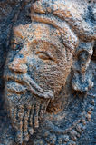 Face carving in stone Sculpture at Borobudur Royalty Free Stock Photos