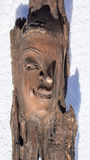 Face Carving on wood Royalty Free Stock Images