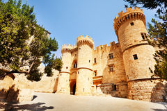 The face of Castello Palace on Rhodes Island Royalty Free Stock Photo