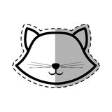 Face cat breed animal mammal dot line shadow Royalty Free Stock Image