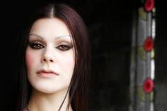 Face caucasiano da mulher fotografia de stock royalty free
