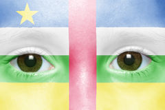 Face with central african republic flag Royalty Free Stock Image