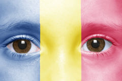 Face with chad flag Royalty Free Stock Image