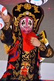 Face change performing. Face changing is a famous Chinese traditional stage drama, named Bian-Lian, as a confidential skill in Chinese Sichuan Opera.Photo taken Royalty Free Stock Photos