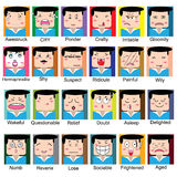 Face charactor Stock Image