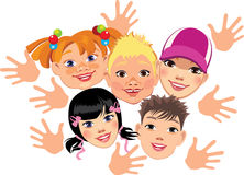 Face cheerful children Royalty Free Stock Photos