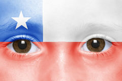 Face with chilean flag Stock Photography