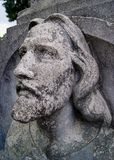 Face of Christ contemplating the sky stock photography