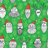 Face_christmas pattern2 库存图片