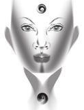 Face cinzenta ilustração royalty free