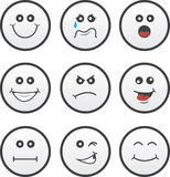 Face Circles Royalty Free Stock Photos