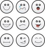 Face Circles. Circle faces in various expressions Royalty Free Stock Photos