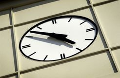 Face of a clock on a building Stock Photography