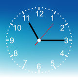 Face clock number design background. Stock Photography