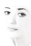 Face close-up of a young lady Stock Photography