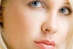 Face closeup Stock Photo