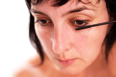 Face closeup of woman make up Royalty Free Stock Images