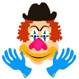 Face of clown Royalty Free Stock Photo