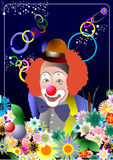 Face of clown Royalty Free Stock Image