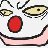 Face clown Royalty Free Stock Image