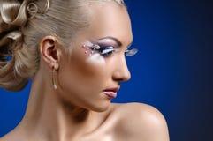 Face coiffure makeup Stock Photo