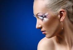 Face coiffure makeup Stock Photos