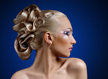 Face coiffure makeup Stock Image