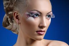 Face coiffure makeup Royalty Free Stock Photo