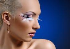 Face coiffure makeup Stock Photography