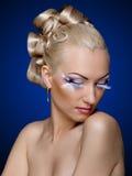 Face coiffure makeup Stock Image
